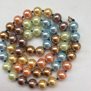 8mm color South Sea Shell Pearl Necklace 18""
